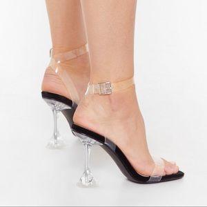 NASTY GAL acrylic clear strap - new!
